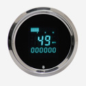 Round Performance Speedometer with Indicators