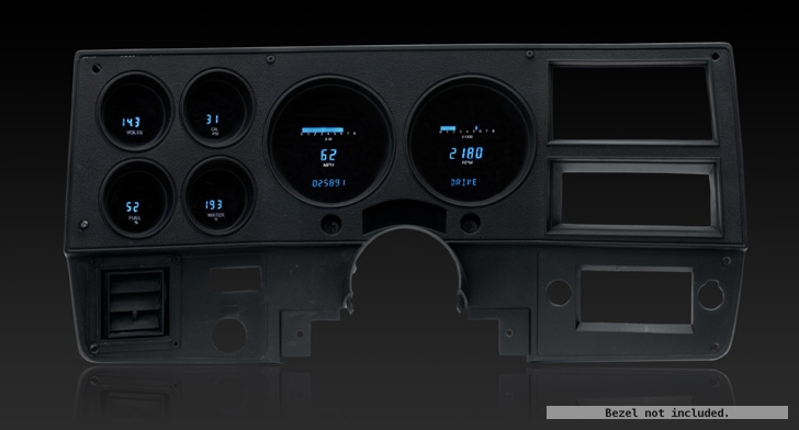 1973- 87 Chevy Pickup, 1973- 91 Chevy Blazer, GMC Jimmy and Suburbans Digital Instrument System