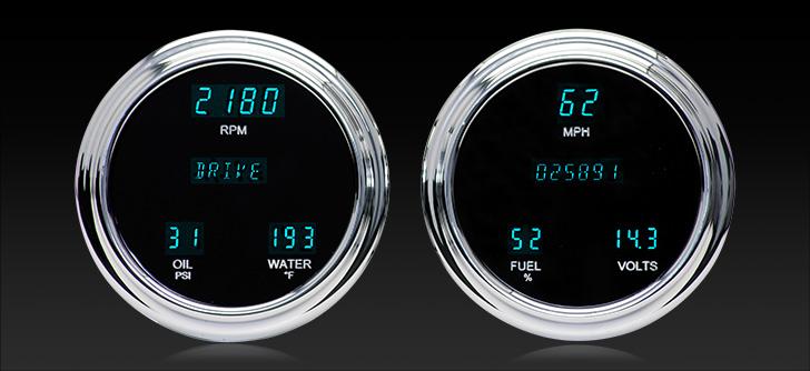 "VFD3-1004: Universal Dual 4.75"" Round, Digital Instrument"