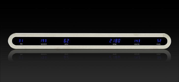 """VFD3X-1002B: Universal 2"""" x 19"""" Oval, Digital VFD Instrument"""