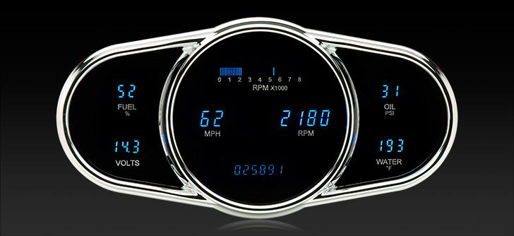 "VFD3-1009: Universal 5"" x 10"" Multi-level Elliptical, Digital Instrument"