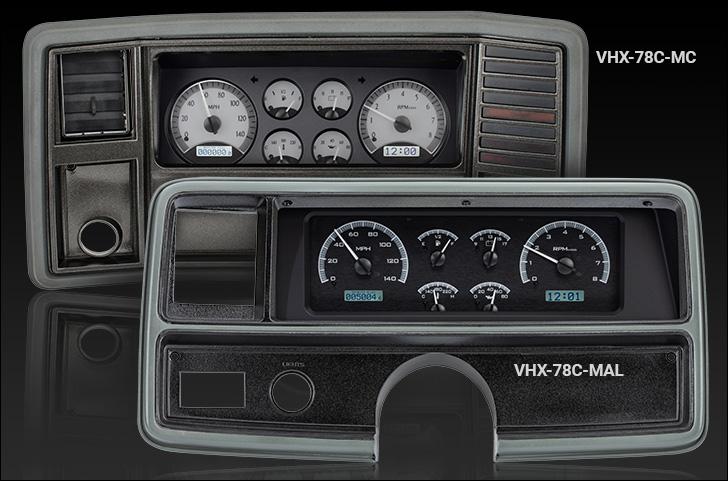 1978- 88 chevy monte carlo, 1978- 87 chevy el camino/ malibu/ caballero vhx  instrument system