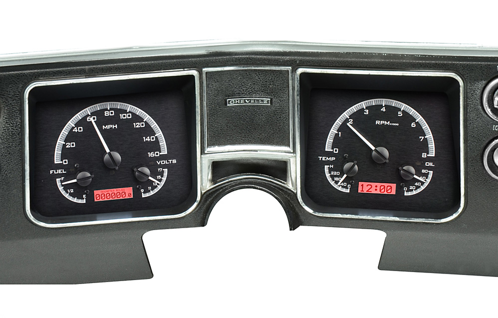black alloy background, red lighting shown with oem dash/ trim/ bezel/ facia