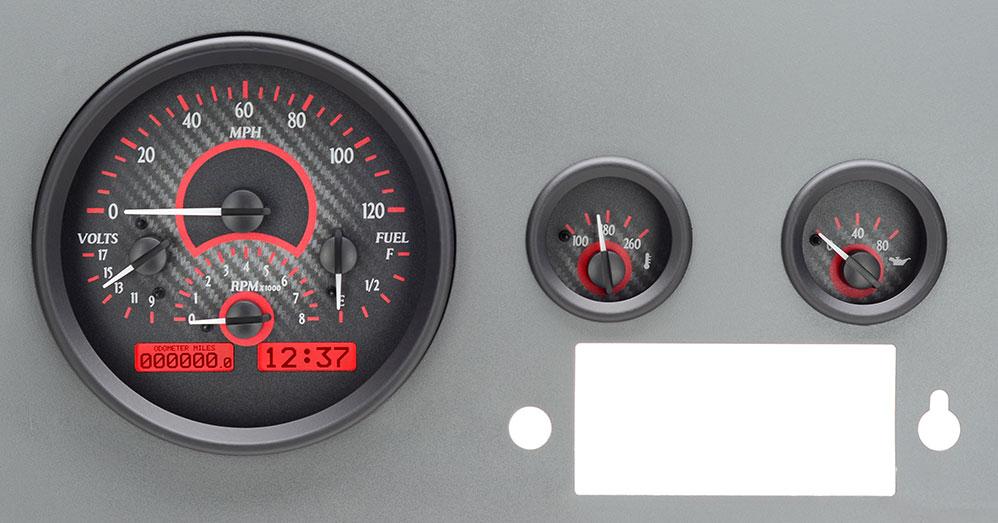 1955 86 Jeep Cj Vhx Instruments. Carbon Fiber Background Red Lighting. Jeep. Jeep Cj Wiring Instruments At Scoala.co
