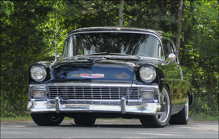 1956 Chevy and Trees