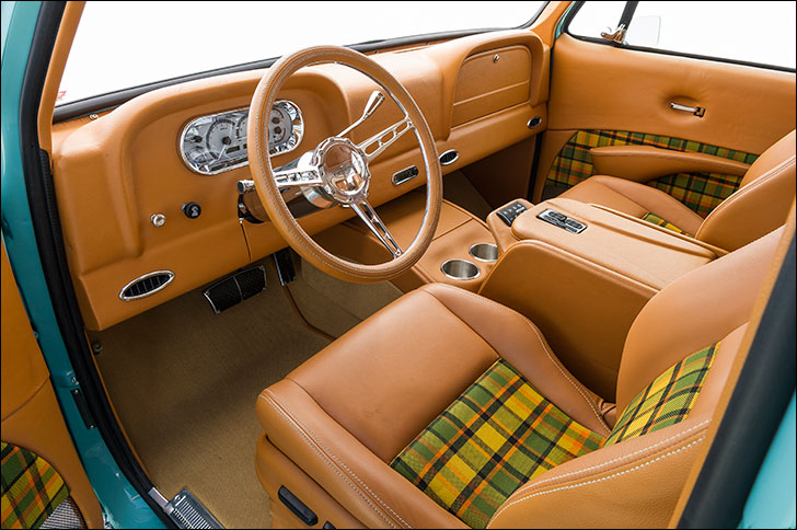 Yellow plaid interior