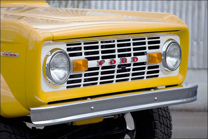 1969 Ford Bronco bright yellow