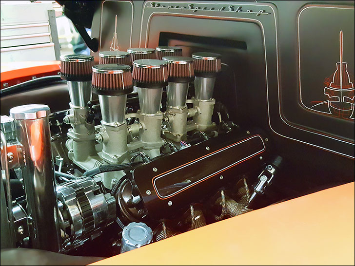 Stoner 49 chevy truck: LS engine with a neato intake
