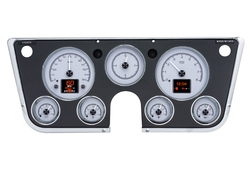 Silver Alloy Background shown with optional gauge carrier/ bezel