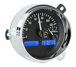 Black Alloy Background, Blue Lighting gauge detail.