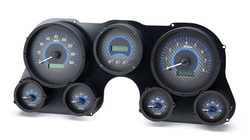 VHX-67C-PU: Carbon Fiber Background, Blue Lighting