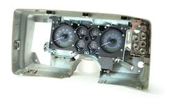 VHX-78C-MC-C-B: Carbon Fiber Background, Blue Lighting shown in Stock Gauge Carrier