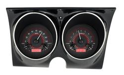 Carbon Fiber Background, Red Lighting shown with optional gauge carrier/ bezel.