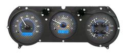 VHX-64C-CVL-C-B: Carbon Fiber Background, Blue Lighting