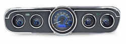 Carbon Fiber Background, Blue Lighting shown with optional gauge carrier/ bezel.