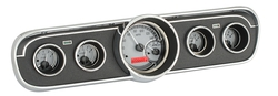 Silver Alloy Background, Red Lighting shown with optional gauge carrier/ bezel.