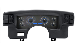 Carbon Fiber Background, Blue Lighting shown with OEM dash/ trim/ bezel/ facia.