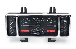 VHX-40F-K-R: Black Alloy Background, Red Lighting