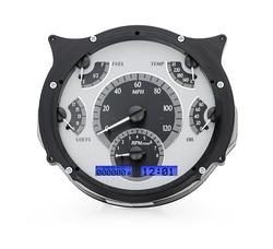 VHX-66F-BRO-S-B: Silver Alloy Background, Blue Lighting