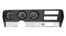 Black Alloy Background, Red Lighting shown with OEM dash/ trim/ bezel/ facia.
