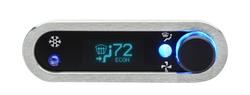 DCC-2400H-S-T: Brushed/ Satin Bezel, Teal Lighting