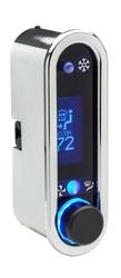 DCC-2400V-C-B: Chrome Bezel, Teal Lighting