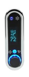 DCC-2400V-C-T: Chrome Bezel, Teal Lighting
