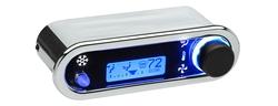 DCC-2500H-C-B: Chrome Bezel, Blue Lighting