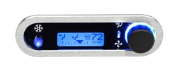 DCC-2500H-S-B: Brushed/ Satin Bezel, Blue Lighting