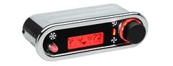 DCC-2500H-C-R: Chrome Bezel, Red Lighting