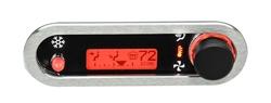 DCC-2500H-S-R: Brushed/ Satin Bezel, Red Lighting