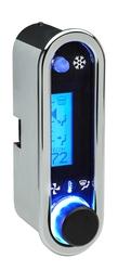 DCC-2500V-C-B: Chrome Bezel, Blue Lighting