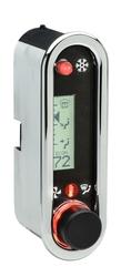 DCC-2500V-C-W: Chrome Bezel, White Lighting