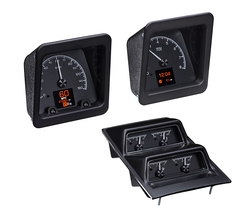 Black Alloy Background with OEM/ Stock console gauge bezel/ trim.