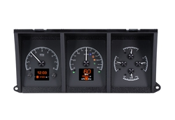 HDX-73F-PU-K: Black Alloy Background with Indicators shown.