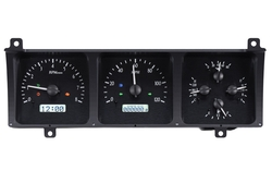 VHX-86J-WAG-K-W: Black Alloy Background, White Lighting with Indicators shown.
