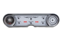 Silver Alloy Background, Red Lightingshown with OEM dash/ trim/ bezel/ facia.