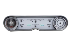 Silver Alloy Background, White Lightingshown with OEM dash/ trim/ bezel/ facia.