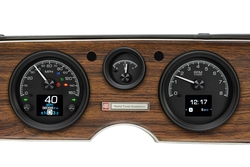 Black Alloy Background with Indicators shown in OEM dash/ trim/ bezel/ facia.