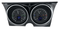 Black Alloy Background w/ Indicators shown in optional gauge carrier/ bezel.