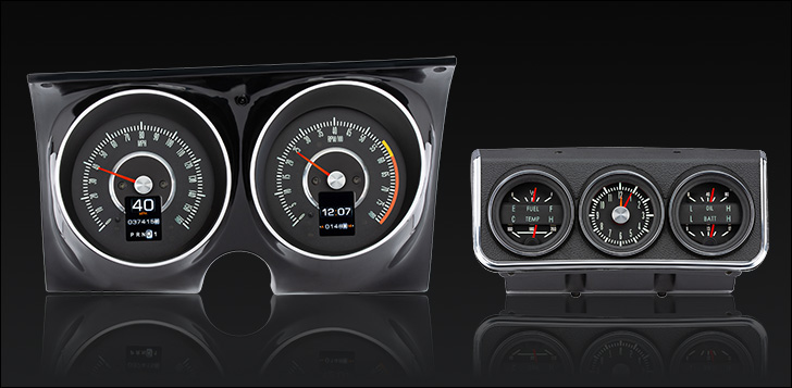1967 Camaro with Console gauges RTX Instruments