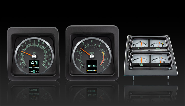 1969 Camaro with Console gauges RTX Instruments