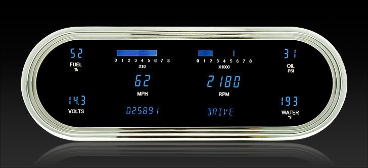 "VFD3-1008: Universal 4.25"" x 12"" Oval, Digital VFD Instrument"