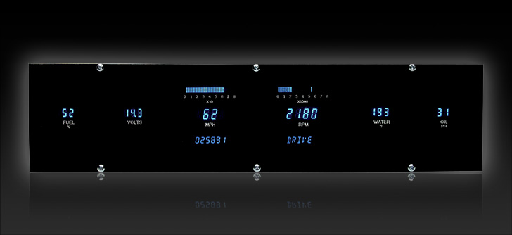 "VFD3-1001-L: Universal 4.4"" x 18.5"" Rectangle, Digital Instrument"