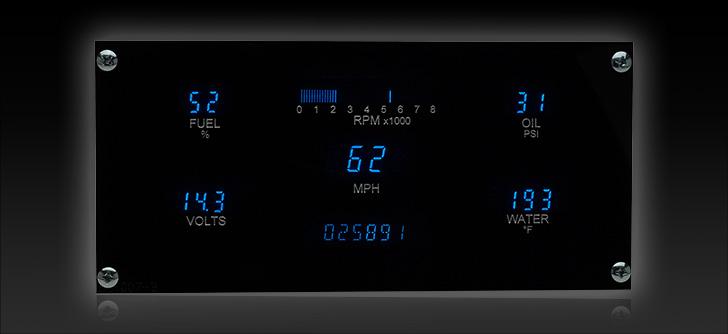 "VFD3-1007: Universal 3.8"" x 8.1"" Rectangle, Digital Instrument"