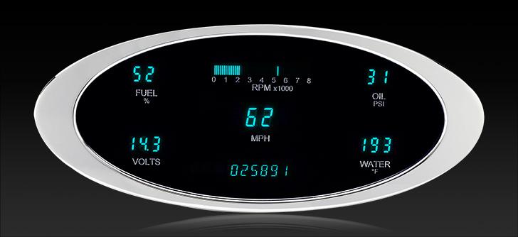 "VFD3-1011: Universal 4"" x 9.5"" Elliptical, Digital Instrument"