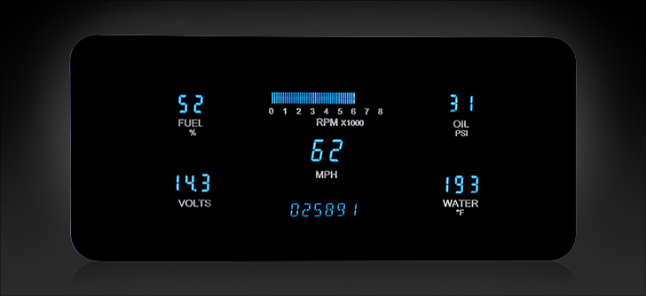 1963- 72 Jeep Wagoneer/ J-Trucks Digital Instrument System