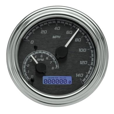 Dakota Digital Chrome Fatbob Tank Mounted Speedometer 96-03 Harley Softail FLHT