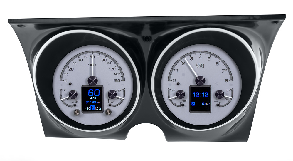 Silver Alloy Background shown with optional gauge carrier/ bezel.