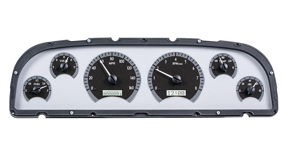 VHX-60C-PU-S-W: Silver Alloy Background, White Lighting